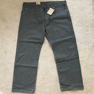 NWT Mens Grey Levi's 569 Jeans 38 x 30